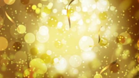 金色粒子丝带飘落背景