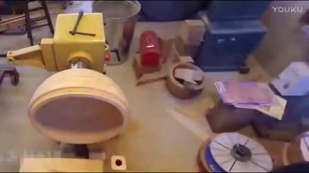 德国木工太牛了 工具真专业 造了个火星出来_高清