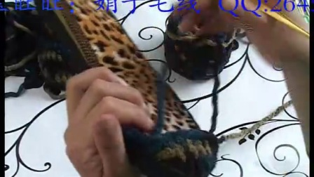带后跟男士 拖鞋钩法_钩针视频教程  娟子解说【高清】