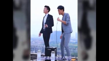 米高户外音响  国语粤语混合演唱《难念的经》