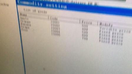 OCOM barcode printing scale TM-B working video 3