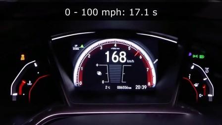 动力强劲! 本田思域0-100km h加速测试!