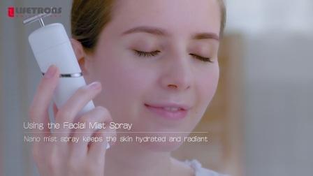 【LIFETRONS】Ultrasonic Ionic Facial Kit With Light Therapy,Nano Spray & Massge
