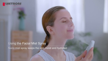 【LIFETRONS】Nano Mist Spray Moisturizes With Digital Skin Monitor NS-600P