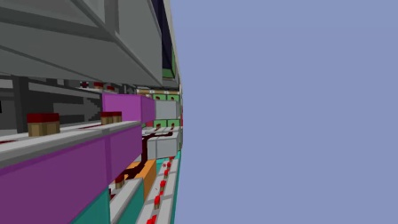 [Minecraft]可延伸3高下吸门 3 Hgh Expandable Hipster Door