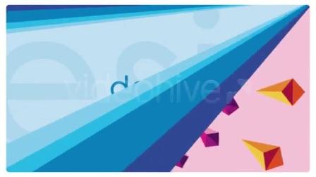 2077 彩虹的梦文字标题展示模板