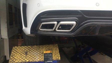 奔驰w205新c200L升级Armytrix智能阀门排气中尾段