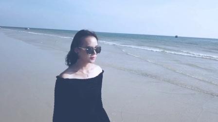航拍10-北海银滩人像(大疆御)