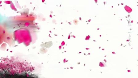 舞蹈背景水墨风 三生三世十里桃花片尾曲凉凉LED高清背景视频素材