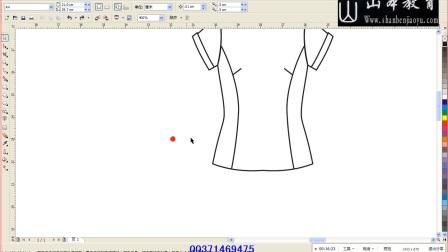 山本教育服装设计公开课-4女衬衫绘图山本教育 北京服装学院 服装手绘图 服装款式图 服装设计教程
