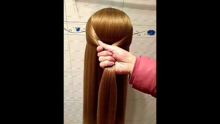 短发辫子苹果头卷发栗子头活泼麻花中长发中长发教程