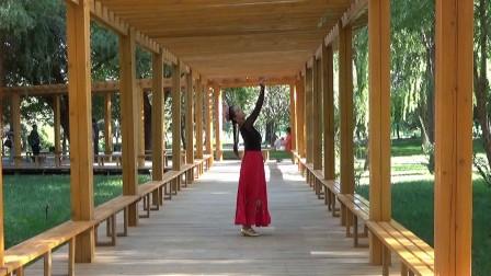 李霞在植物园即兴起舞