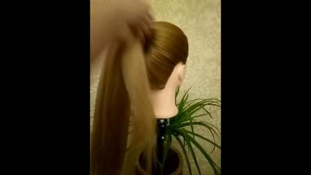 儿童莫西干新娘编发苹果头伴娘编发丸子头新娘辫子扎头发马尾