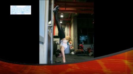 王鸥黑丝健美裤现身健身房,当她玩起倒立时,网友们开始了浮想