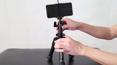 劲捷SC051桌面迷你三脚架 手机自拍支架 单反相机摄影小三脚架