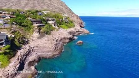 夏威夷摄影旅游 航拍欧胡岛吐痰洞 Spitting Cave ,Honolulu,Oahu, Hawaii ハワイ旅行 DJI Phantom 4 大疆无人机