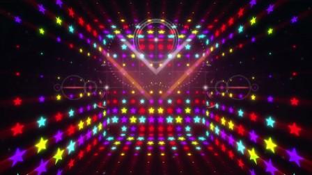 YM0792动感节奏闪光舞曲五角星粒子光效(有音乐)