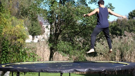 【5BBOY】Learn How to B-Twist on the Trampoline and Then The Ground