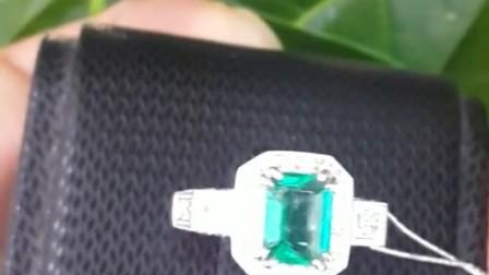 【静乐斋珠宝】1.50克拉哥伦比亚祖母绿钻戒带国检NGTC证书