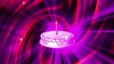 z0160蛋糕单支蜡烛星光婚礼儿童卡通生日 视频素材 大屏幕背景