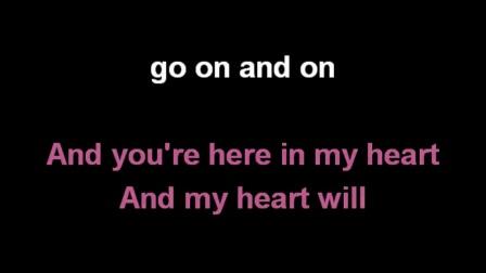Céline Dion   My Heart Will Go On Karaoke)