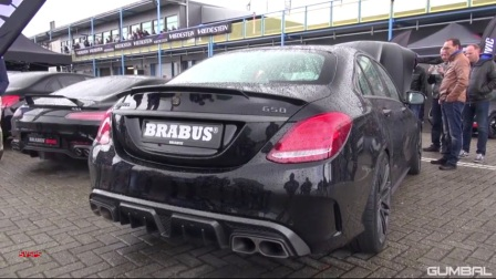 巴博斯C63 AMG BRABUS 650 4.0 Biturbo V8 C63 S AMG! Start, Revs, Overview!