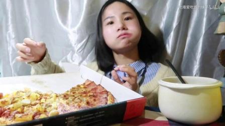 47.5 吃个披萨~ 中国吃播~_美食圈