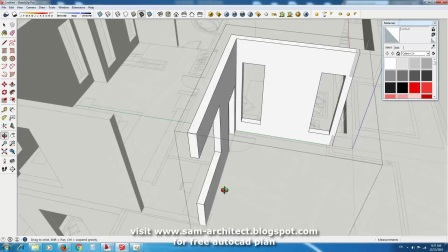 Drawing 2 stories Modern Home Design with 3 Bedrooms