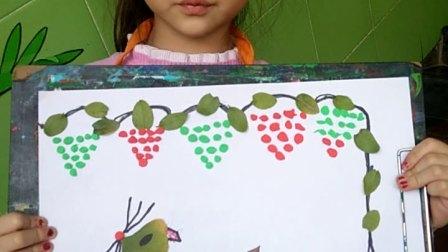 幼儿树叶画