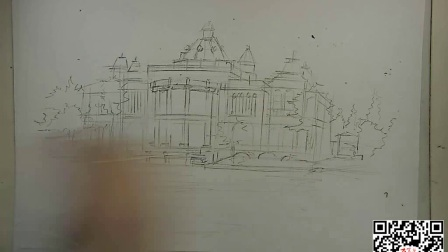 景观建筑手绘欧式建筑手绘线稿2,欧式建筑手绘,手绘欧式建筑,手绘技法学习