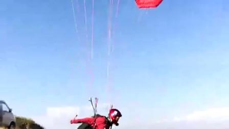 滑翔伞飞跃