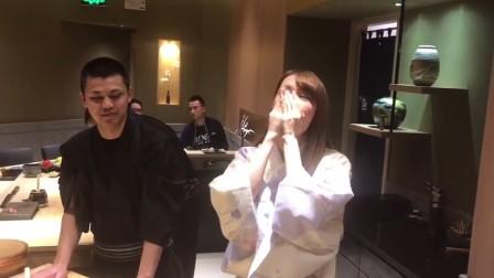 日本女优立花瑠莉中国行南京寿司店