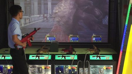 反恐风暴电玩城4人实感射击游戏机