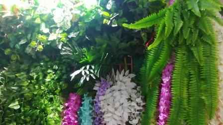 塑料树塑料花饭店装修