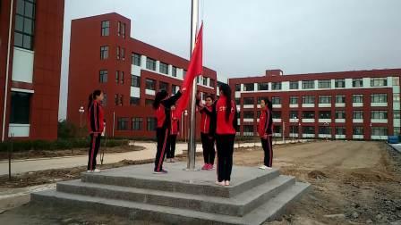 为民小学第一次升旗仪式