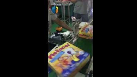 潮南食品包装盒贴标机 盒子L角自动贴小胶纸机