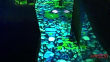 十二通道地面互动投影