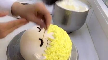 水冰月蛋糕之美少女蛋糕#路易卡通蛋糕##原创#