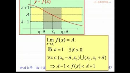 徐小湛《高等数学》第7讲:函数的极限 (3)_标清