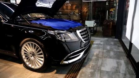 2018款奔驰迈巴赫S450 提车装贴美国XPEL专车专用隐形车衣