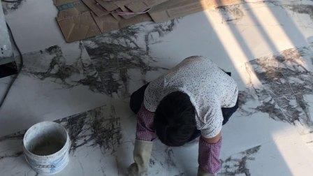 红帆船大理石瓷砖之意大利米灰铺贴完成🤗