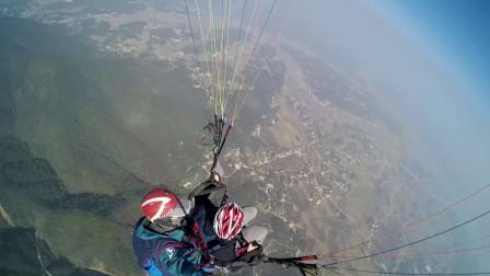 浪子褒忠山滑翔伞飞行体验