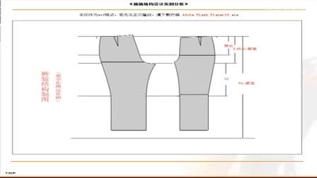 女三角裤纸样打版视频[高清版]