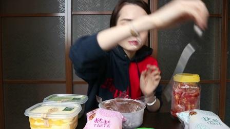 【哎哟阿尤】上海吃播巧克力千层 蛋黄酥 凤梨酥 紫米面包 鸡爪 抹茶奥利奥盒子 芒果千层盒子 一点点 八宝饭 八宝鸭_美