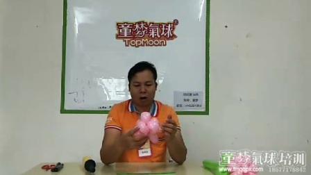 气球五瓣花朵5造型步骤,南宁气球造型培训,童梦气球