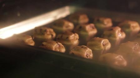 YSSC-03174-美食曲奇饼干制作烘焙烤箱融化过程变化近距离特写高清视频实拍