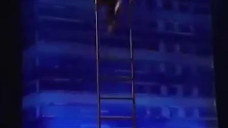 老外这样玩梯子,评委及观众都看呆了!