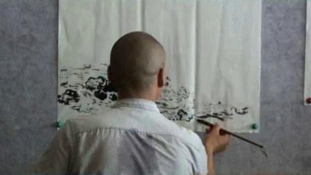 著名山水画家梁彩川