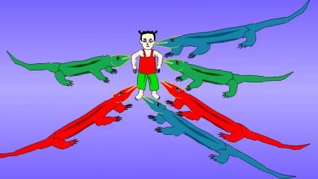 丌蛙动漫软件制作示例:哪吒大战鳄鱼
