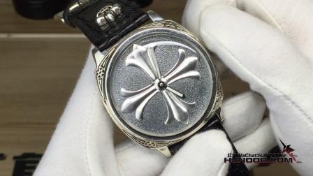 沛纳海造型纯银款克罗心手动机械男士腕表